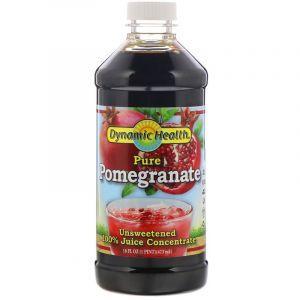 Гранатовый концентрат, Pomegranate Juice, Dynamic Health, жидкий, 473 мл