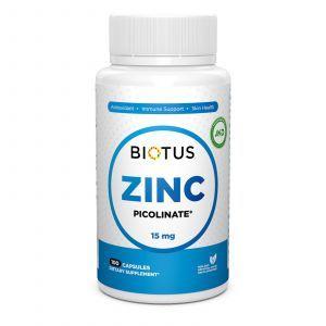 Цинк пиколинат, Zinc Picolinate, Biotus, 15 мг, 100 капсул